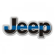 Jeep Thin Blue Line Wrangler Rubicon Sticker Decal