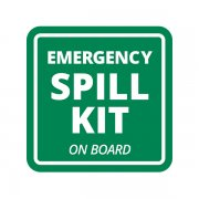Emergency Spill Kit on Board Industrial Chemical Safety Sticker Decal