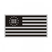 3 Percent Gray Black Subdued Flag Special OPS Nyberg Decal Sticker (RH) V3