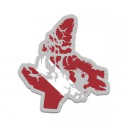 Nunavut Province Shaped Dive Flag Decal Canada NU Map Vinyl Sticker