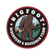 Bigfoot Sasquatch Discovery & Research Team Red Sticker Decal