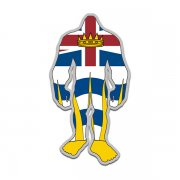 British Columbia Flag Bigfoot Decal BC Sasquatch Big Foot Sticker