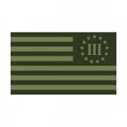 3 Percenter Olive Green Subdued Flag Decal Percent Nyberg Sticker (L)