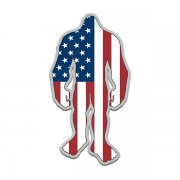 American Flag Bigfoot Decal USA United States Sasquatch Big Foot Sticker