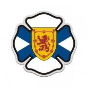 Nova Scotia Flag Firefighter Decal NS Fire Rescue Maltese Cross Sticker