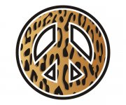 Peace Symbol Leopard Animal Skin Print Sticker Decal