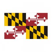 Maryland State Flag MD Vinyl Decal Sticker