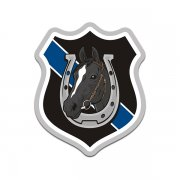 Mounted Police Patrol Black Horse Thin Blue Line Sticker Decal