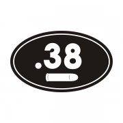 .38 Cal Ammo Can Sticker Decal