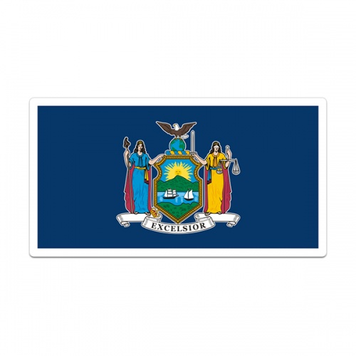 New York Sticker Decal Vinyl State Flag NY V3
