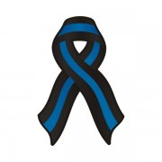 Thin Blue Line Ribbon Decal Police Officer Memorial Vinyl Sticker