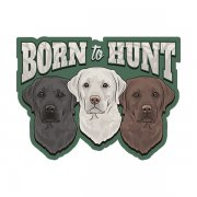 Labrador Retriever Dogs Born to Hunt Waterfowl Sticker Decal