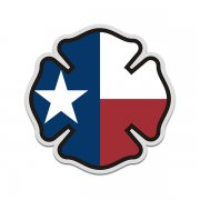 Texas State Flag Firefighter Decal TX Fire Rescue Maltese Cross Sticker
