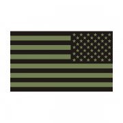 American Olive Green/Black Subdued Flag Decal OD Vinyl Sticker (LH)