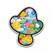 Mushroom Psychedelic Peace Anti-War Sticker Decal