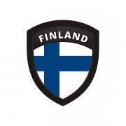 Finland Flag Finnish Nordic Shield Badge Sticker Decal