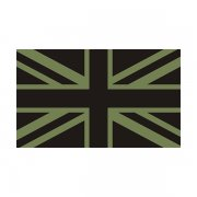 Britain Union Jack Olive /Black Subdued Flag Decal OD British Sticker