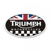 Triumph Motorcycles Oval UK British Racing Flag Sticker Decal V5