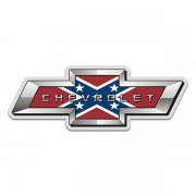 Chevrolet Rebel Flag Bow Tie Confederate Chevy Sticker Decal