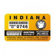 "Indiana Ghost Hunting Permit 4"" Sticker Decal"