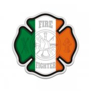 Firefighter Ireland Irish Flag Cross Sticker Decal