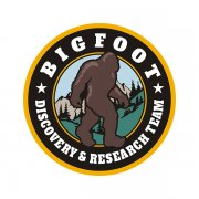 Bigfoot Sasquatch Discovery & Research Team Yellow Sticker Decal