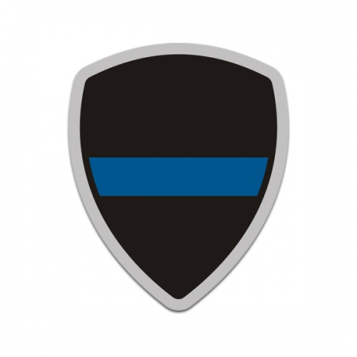 Thin Blue Line Police Officer Badge Sticker Decal V3