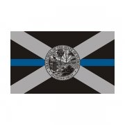 Florida State Flag Thin Blue Line FL Police Officer Sheriff Sticker Decal