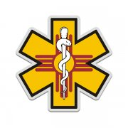New Mexico State Flag Star of Life NM EMT Paramedic EMS Sticker Decal