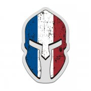 France Flag Spartan Helmet Decal French Sticker