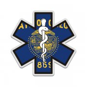 Oregon State Flag Star of Life OR EMT Paramedic EMS Sticker Decal