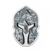 Green Digital Camo Spartan Helmet Military Camouflage Sticker Decal V3