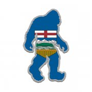 Alberta Flag Bigfoot Decal AB Sasquatch Big Foot Sticker V2