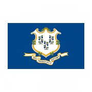Connecticut State Flag CT Vinyl Sticker Decal