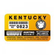 "Kentucky Ghost Hunting Permit 4"" Sticker Decal"
