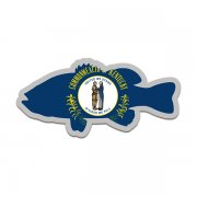 Kentucky State Flag Bass Fish Decal KY Largemouth Fishing Sticker