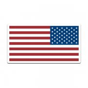American Flag United States US USA Old Glory Reverse Decal Sticker (LH) V3