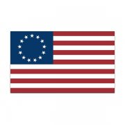 American Revolution Flag Decal Betsy Ross United States Sticker (RH)