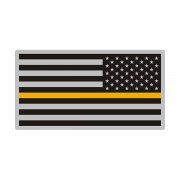 Thin Gold Line American Subdued Flag USA Decal Sticker (LH) V3