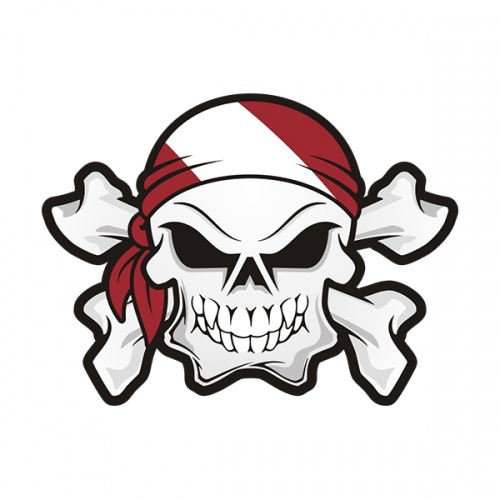 Skull Dive Flag Bandana Scuba Diving Sticker Decal