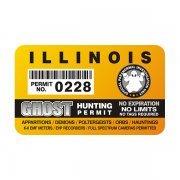 "Illinois Ghost Hunting Permit 4"" Sticker Decal"