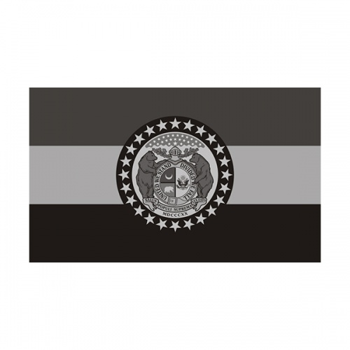 Missouri State Subdued Flag Black/Gray Decal MO Vinyl Sticker