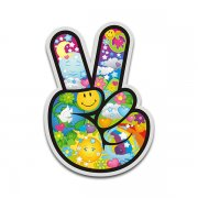 Peace Sign Hand Psychedelic Decal World Earth Hippie Sticker V2