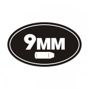 9MM Ammo Can Sticker Decal