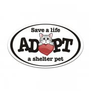 Save a Life Adopt a Homeless Shelter Cat Kitten Decal SPCA Vinyl Sticker