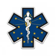 Indiana State Flag Star of Life IN EMT Paramedic EMS Sticker Decal