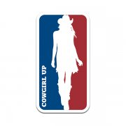 Cowgirl Up Logo Rodeo Country Western Sticker Decal V1