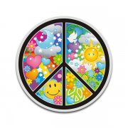 Psychedelic Peace Sign Anti-War Sticker Decal