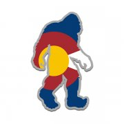 Colorado State Flag Bigfoot Decal CO Sasquatch Big Foot Sticker V2