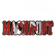 Machinist Decal Canada Canadian Flag Vinyl Hard Hat Sticker
